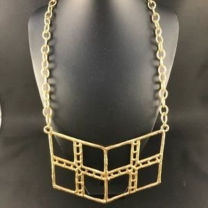 Vintage gold metal geometric necklace